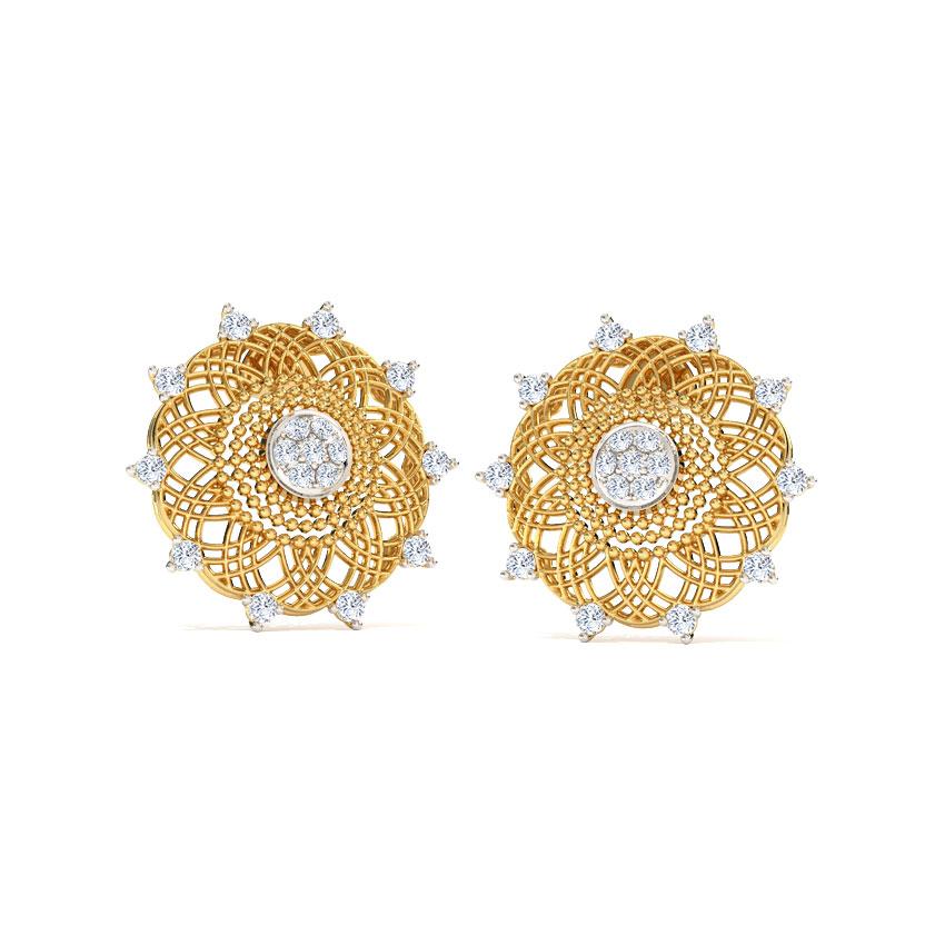 Soha Ornate Stud Earrings