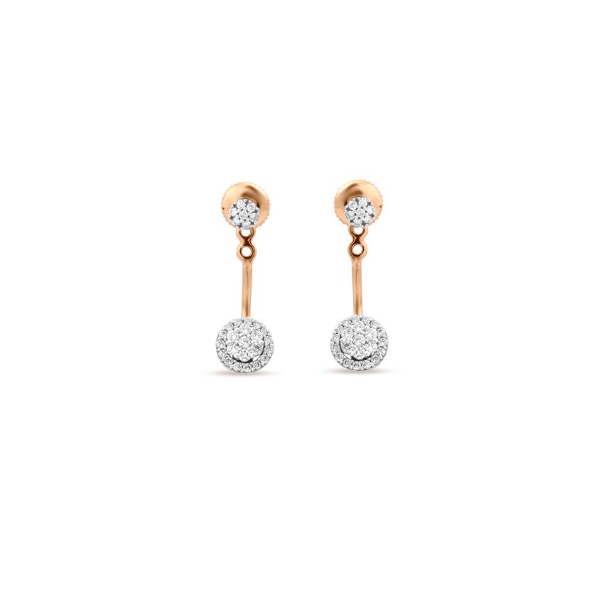 Diamond Earrings 18 Karat Rose Gold Tiny Blink Diamond Stud Earrings