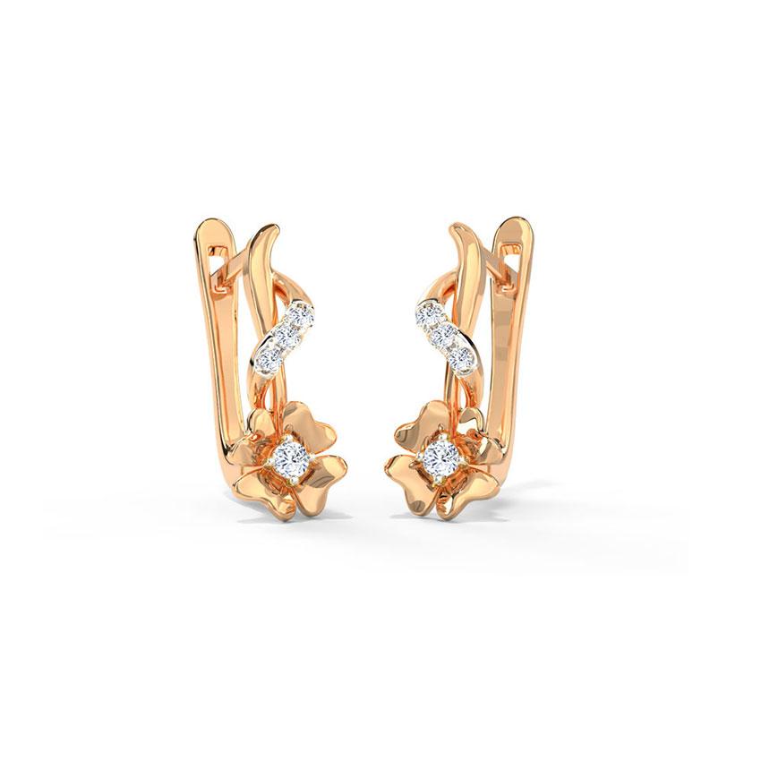 Kiara Floret Hoop Earrings