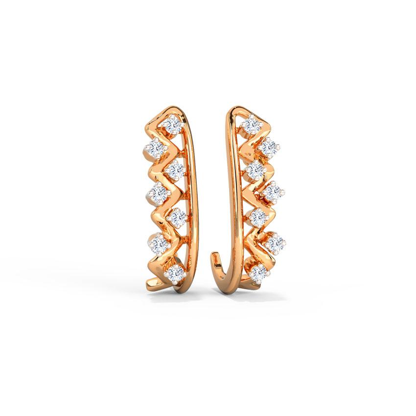 Becca Linear Hoop Earrings