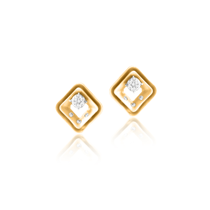 Joyful Diamond Stud Earrings