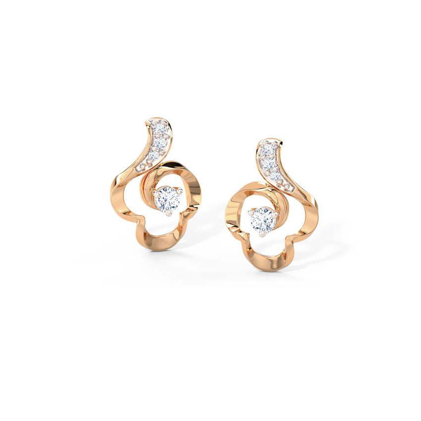 Twisted Floret Stud Earrings