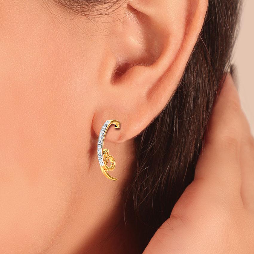 Linear Twine Hoop Earrings