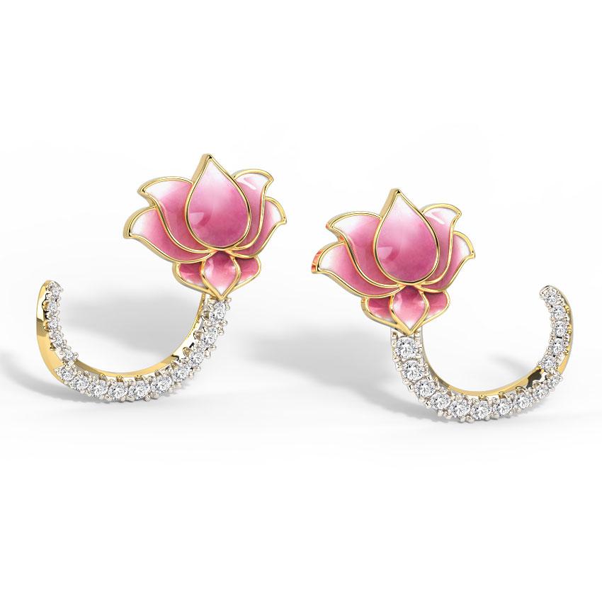 Intertwine Lotus Stud Earrings