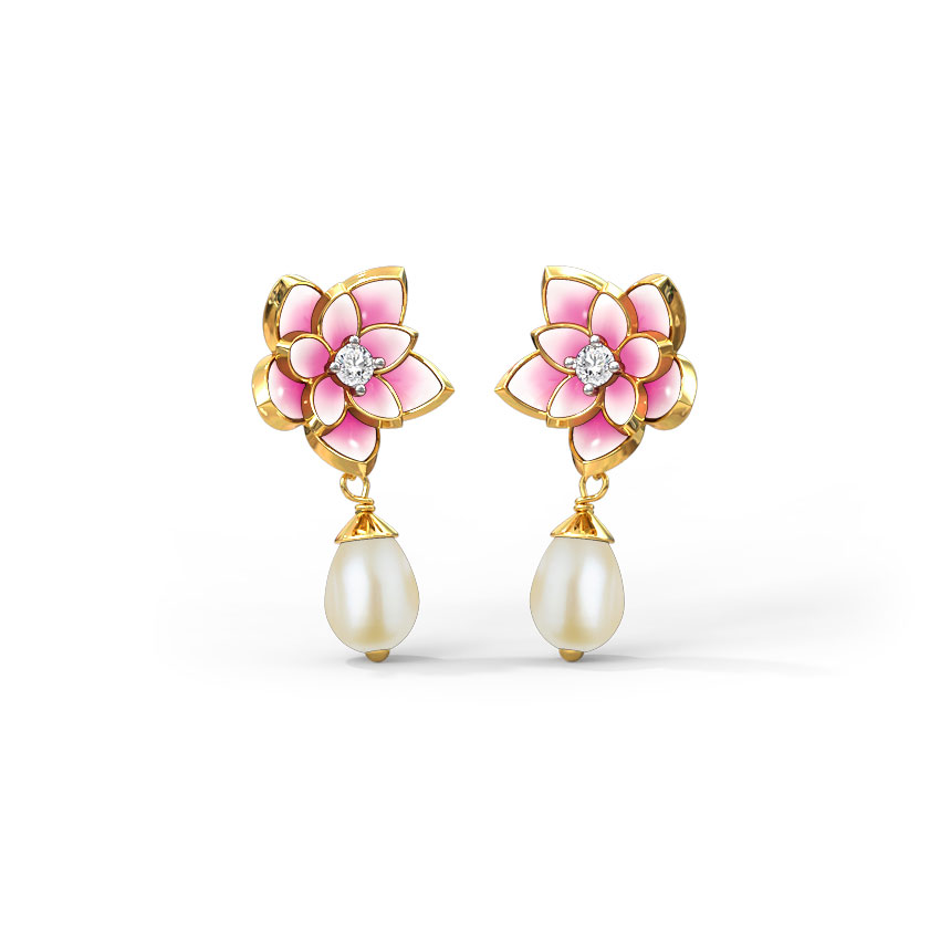 Magnificent Lotus Drop Earrings