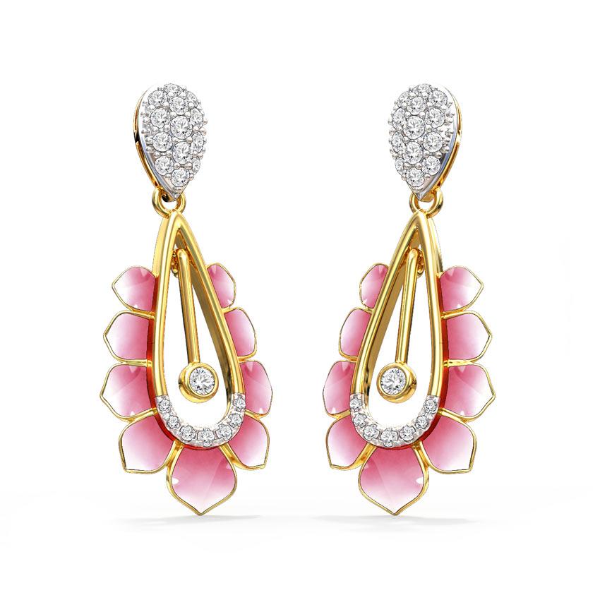 Allure Lotus Drop Earrings