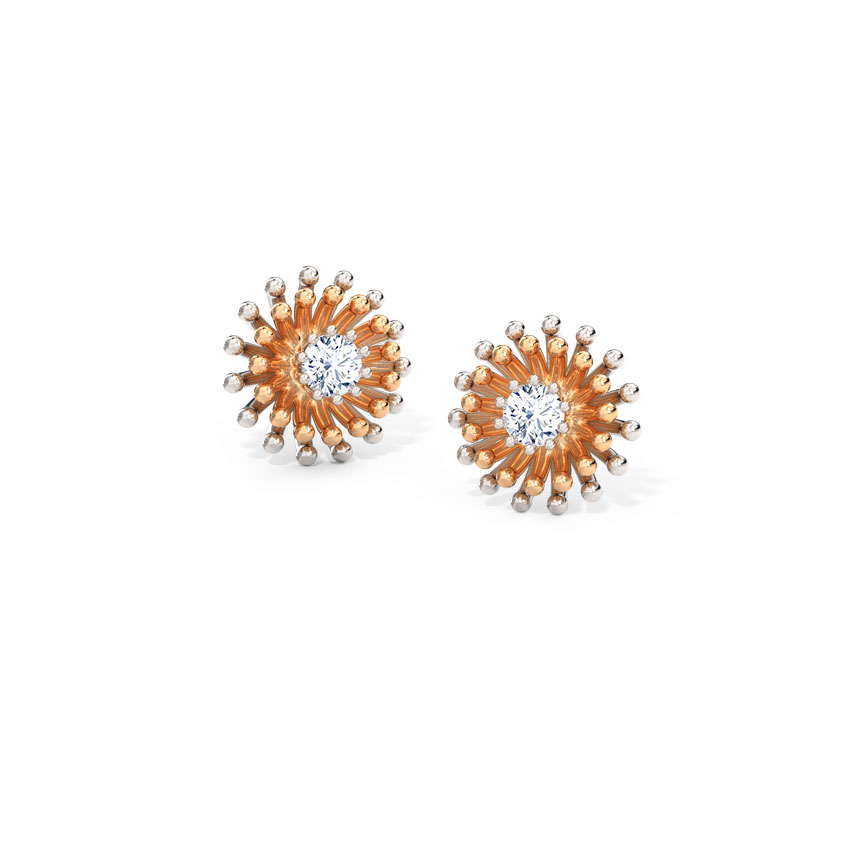 Sparkle Cluster Stud Earrings