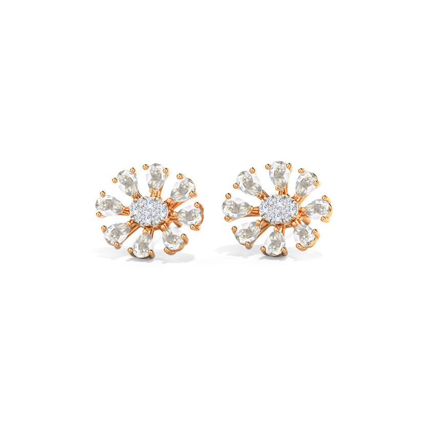 Glitter Streak Stud Earrings