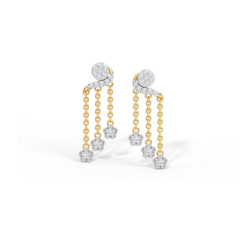 Trefoil Drop Earrings