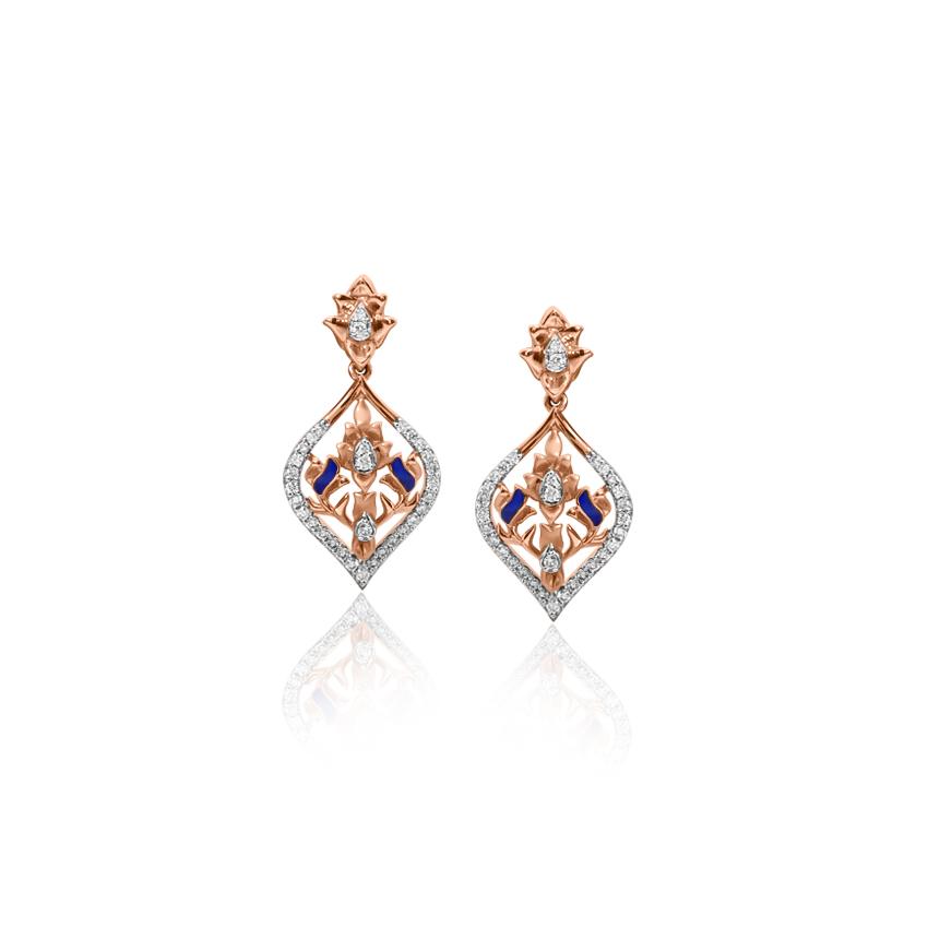 Diamond Earrings 18 Karat Yellow Gold Awe-inspiring Diamond Drop Earrings