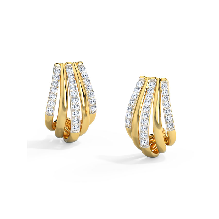 Quint Linear Hoop Earrings