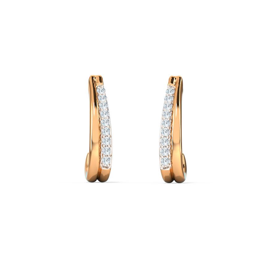 Curvilinear Hoop Earrings