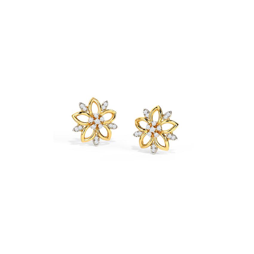 Graceful Floret Stud Earrings