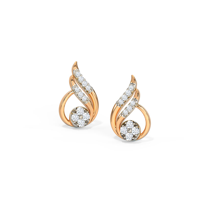Delicate Dewdrop Stud Earrings