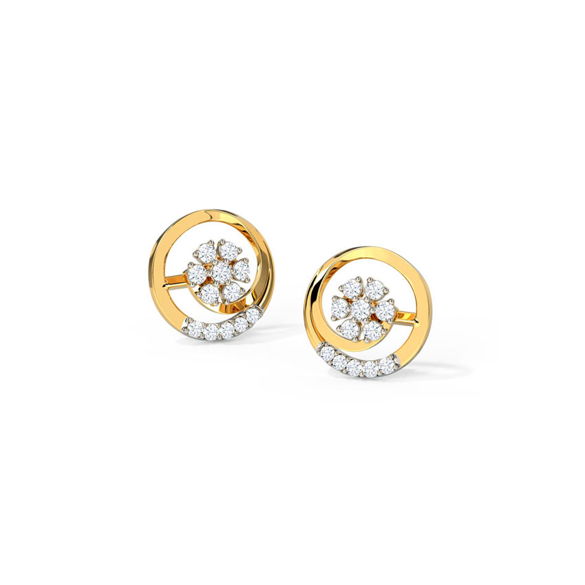 Graceful Swirl Stud Earrings
