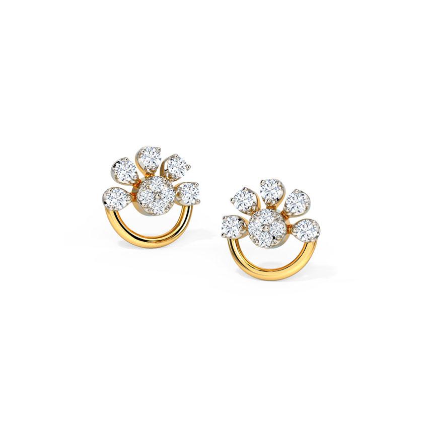 Half Bloom Stud Earrings