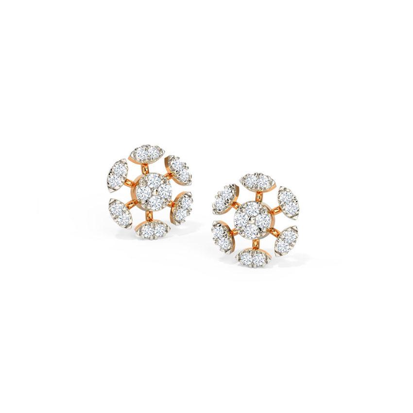 Twinkling Round Stud Earrings