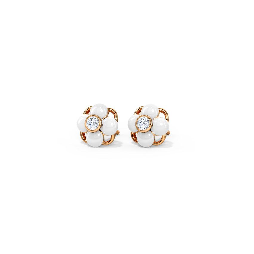 Delicate Bloom Stud Earrings
