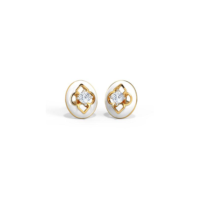 Florid Stud Earrings