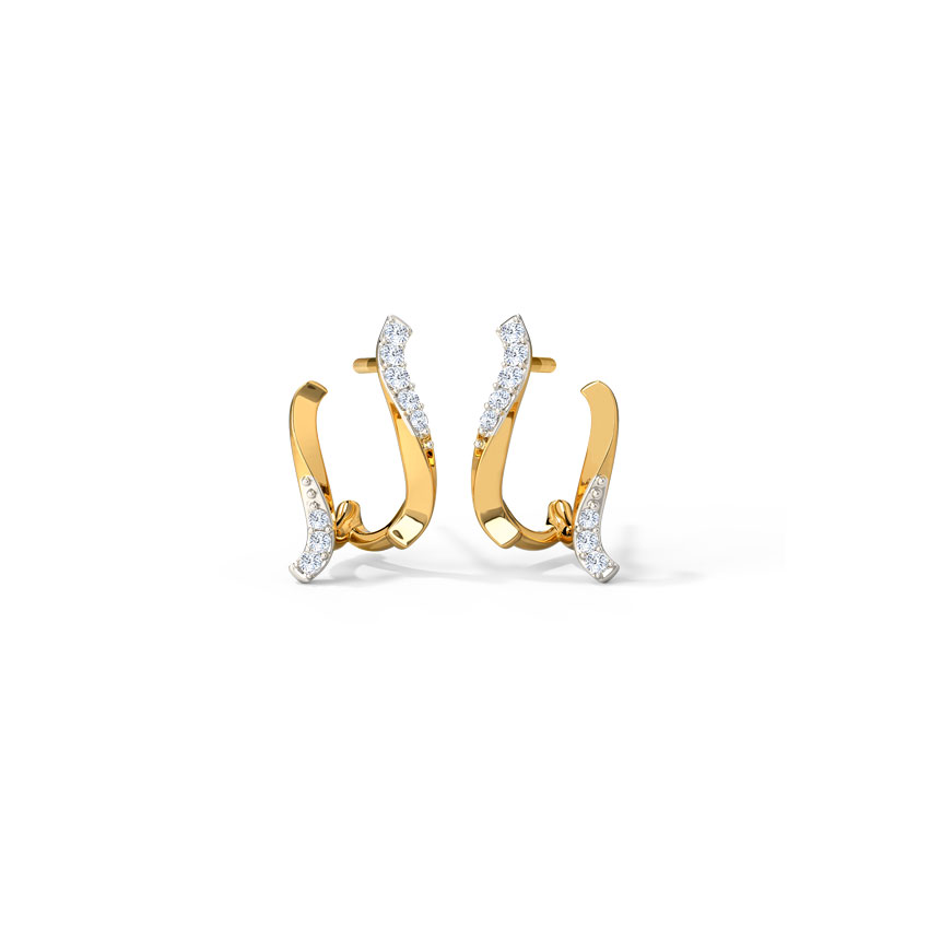 Elegant Arch Hoop Earrings