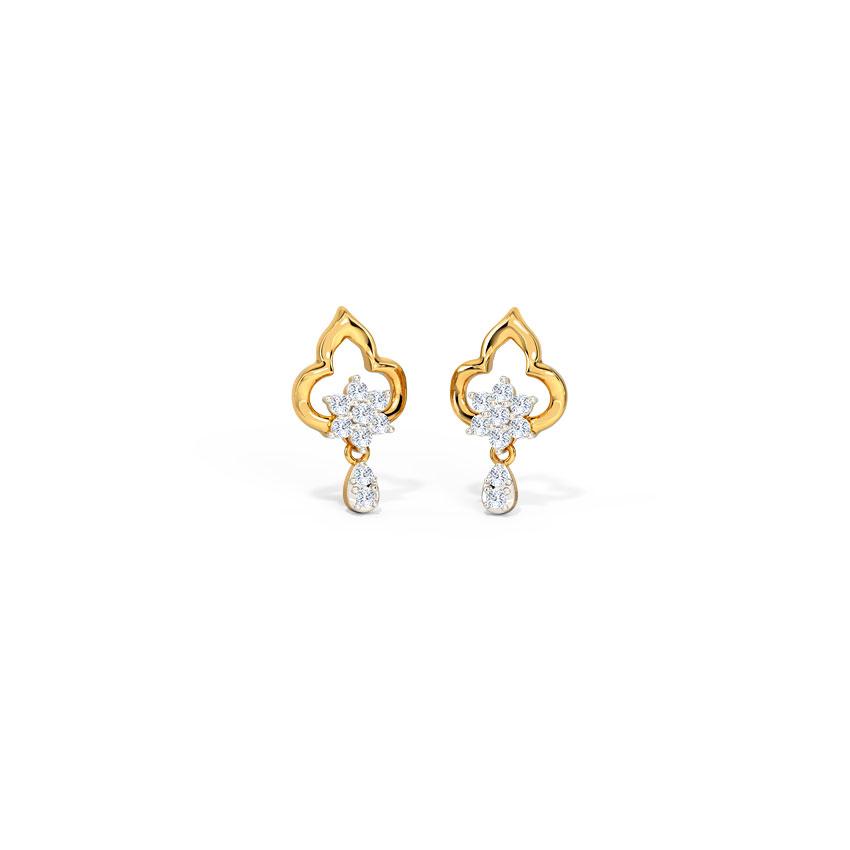 Ornate Sparkle Stud Earrings