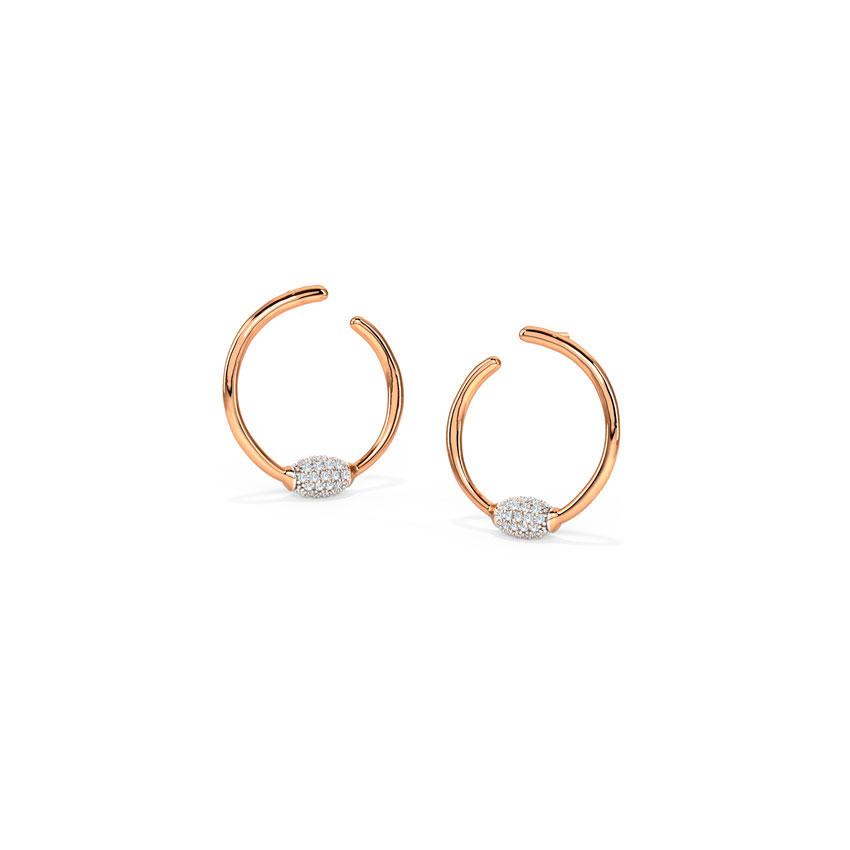 Deliacte Orb Hoop Earrings