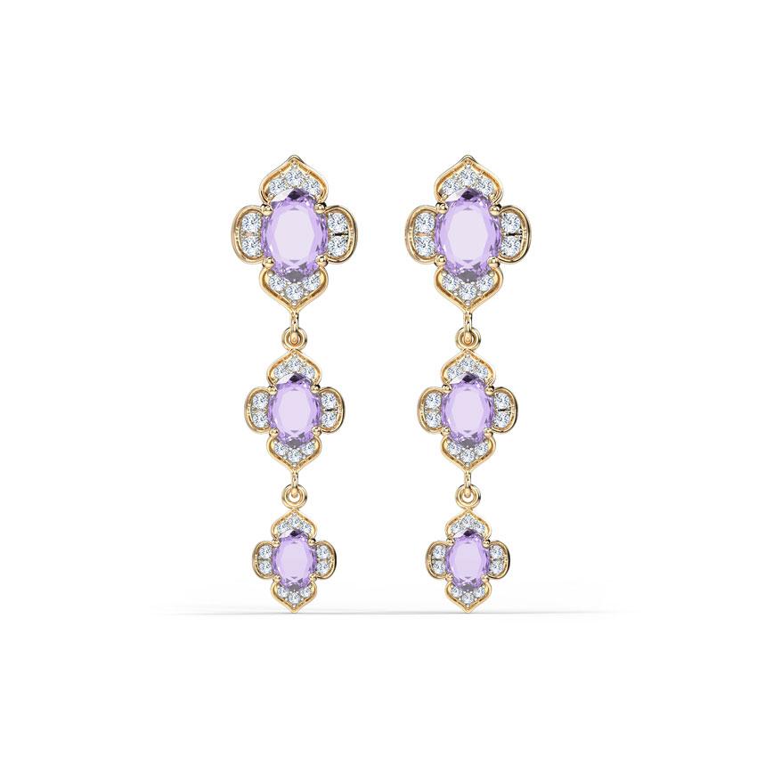 Majestic Bloom Drop Earrings