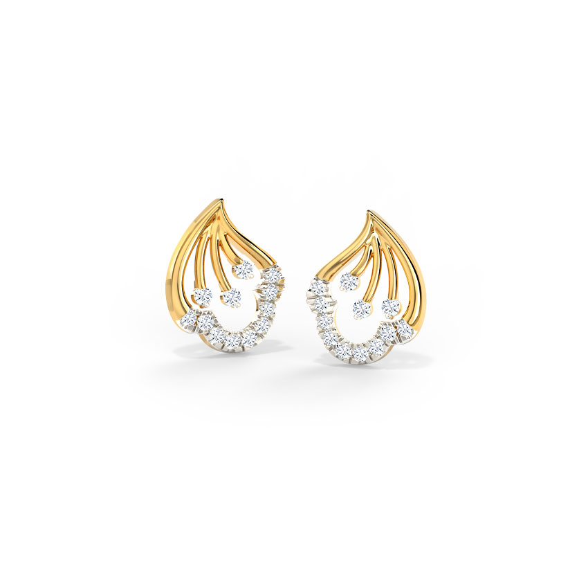 Delicate Petal Stud Earrings
