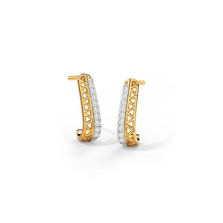 Sparkle Geometric Hoop Earrings