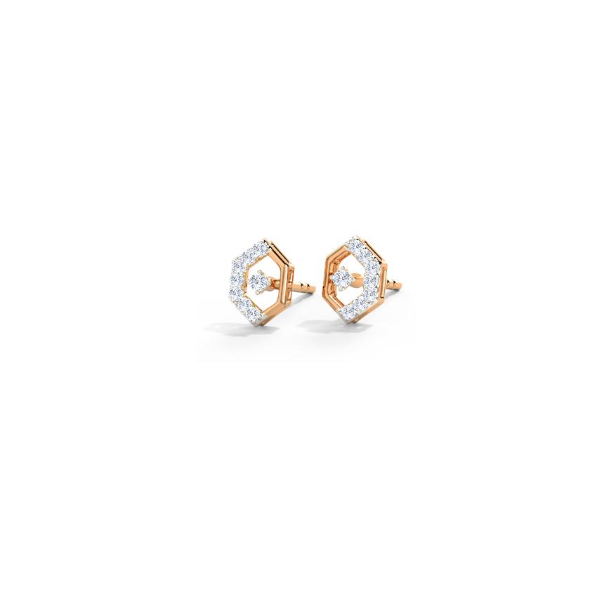 Glinting Hexa Stud Earrings