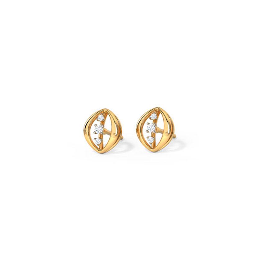 Leafy Sparkle Stud Earrings