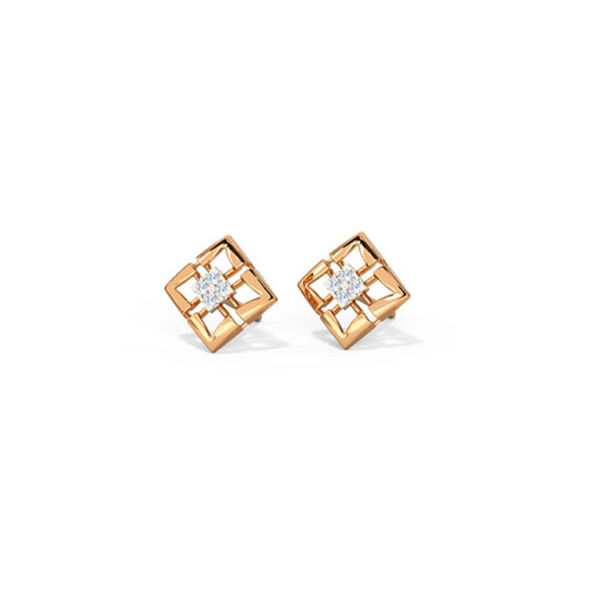 Delicate Quad Stud Earrings