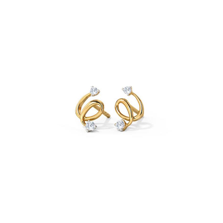 Sleek Twine Stud Earrings