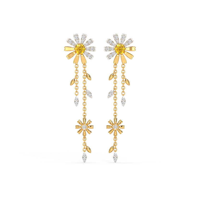 Fascinating Daisy Drop Earrings