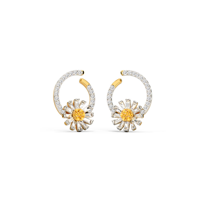 Cheerful Daisy Hoop Earrings
