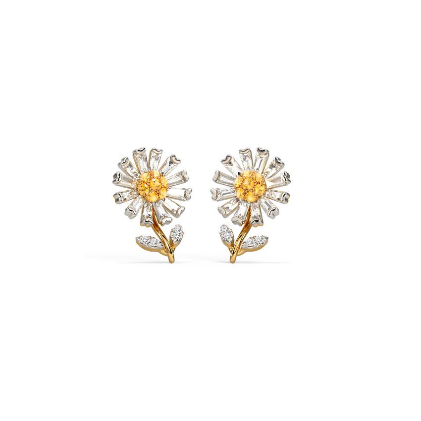 Delicate Daisy Stud Earrings