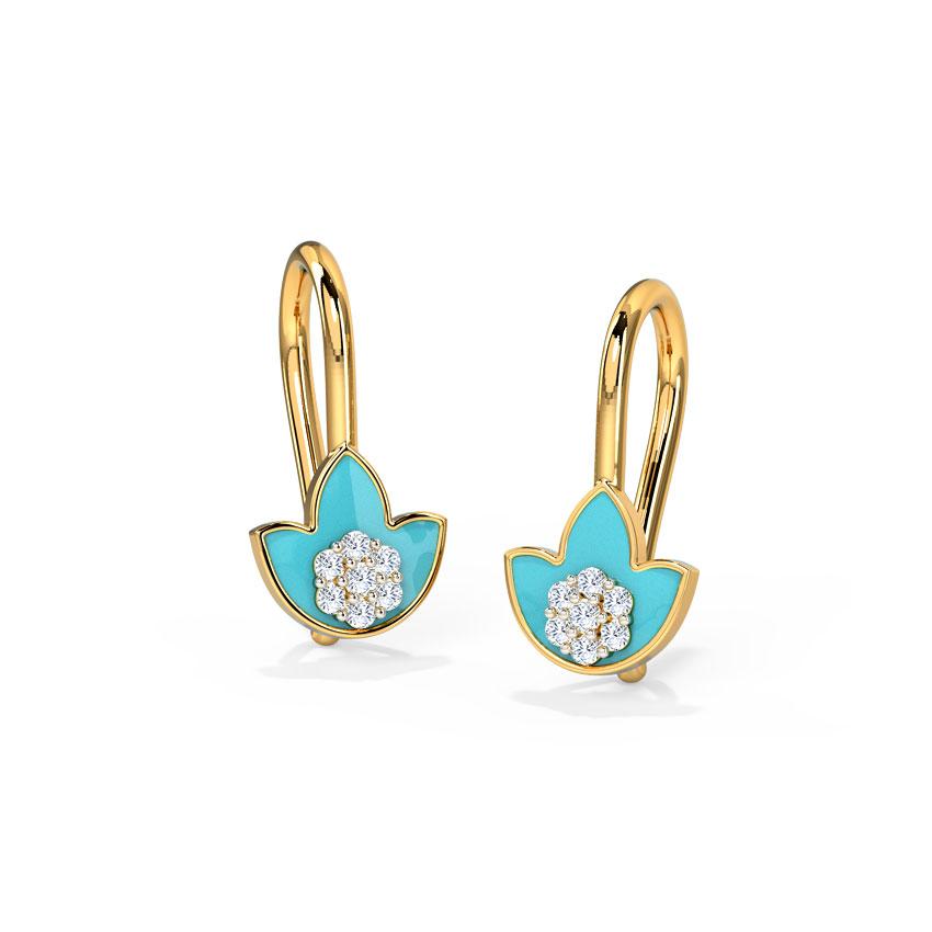 Tulip Sparkle Drop Earrings