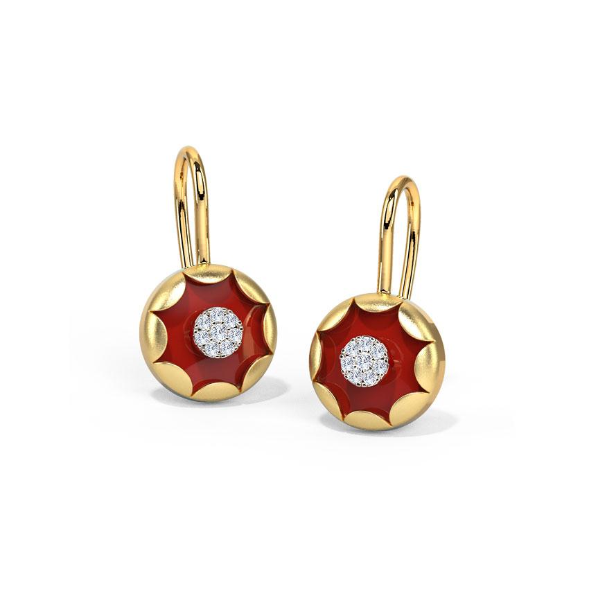 Scarlet Scallop Drop Earrings