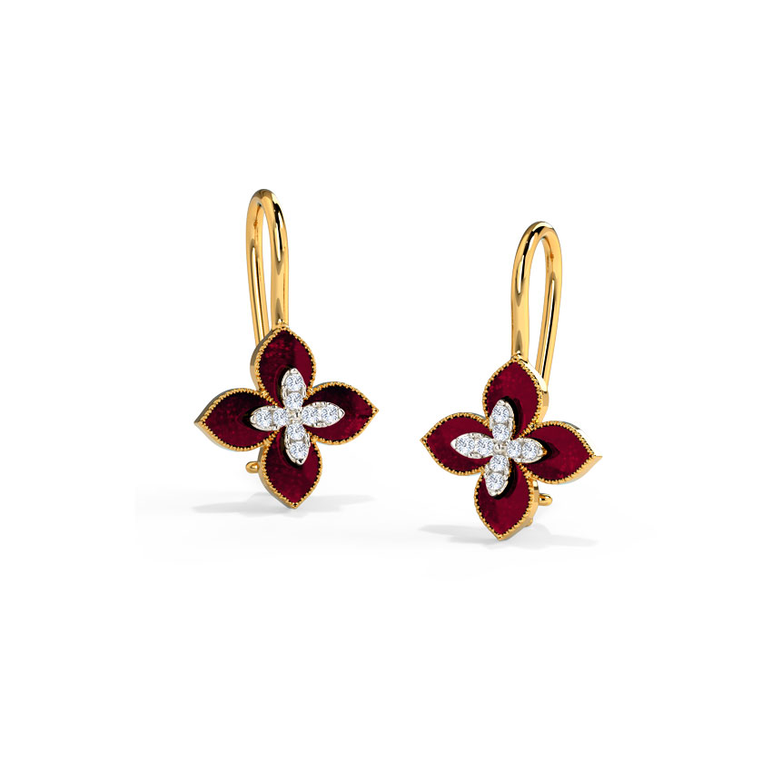 Maroon Bluet Drop Earrings