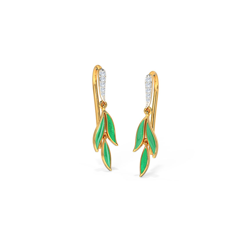 Parakeet Petals Drop Earrings