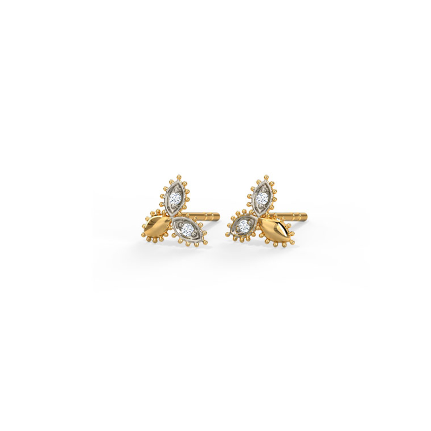 Triune Gleam Stud Earrings
