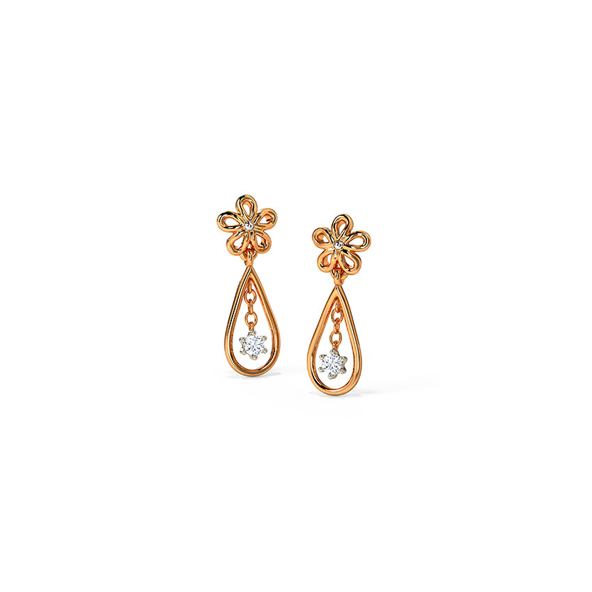 Glinting Blossom Drop Earrings