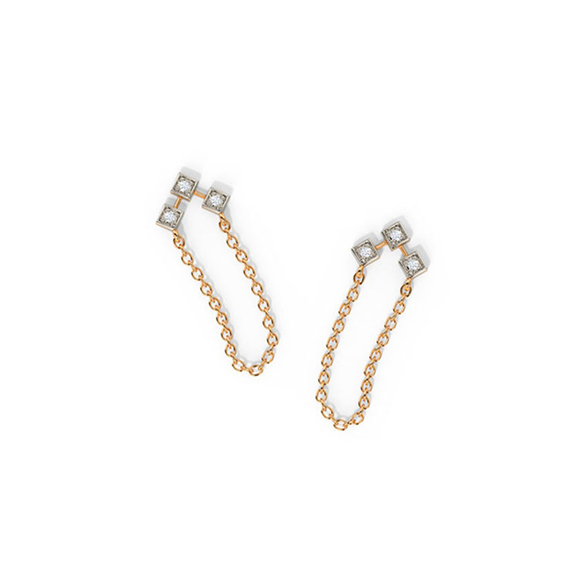 Trine Quad Drop Earrings