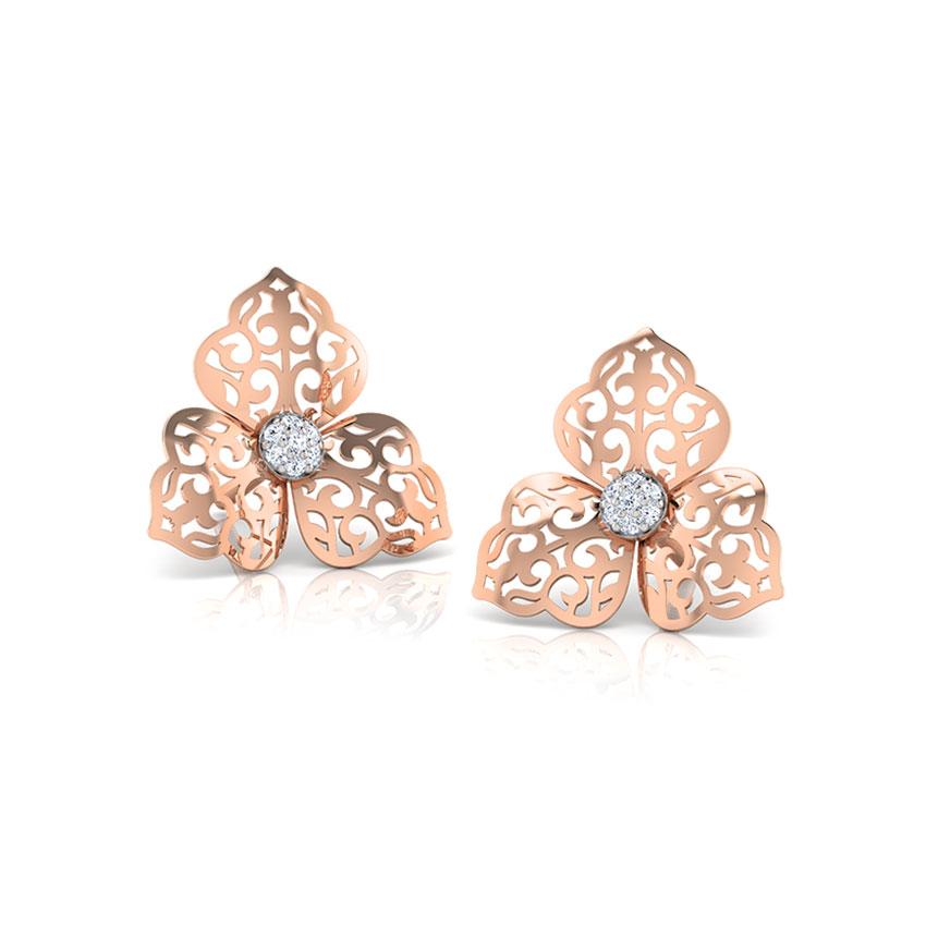 Ornate Petals Stud Earrings