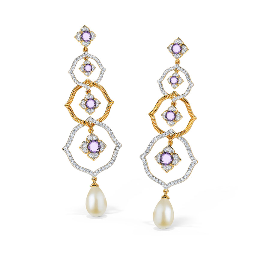 Glorious Ornate Drop Earrings