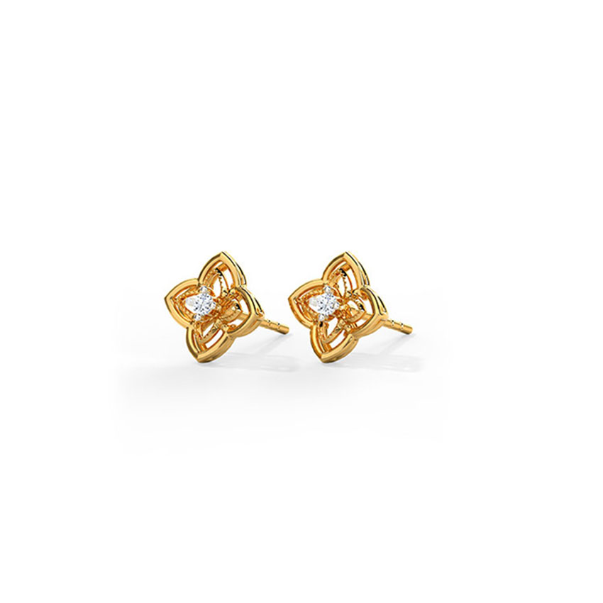 Petite Vine Stud Earrings