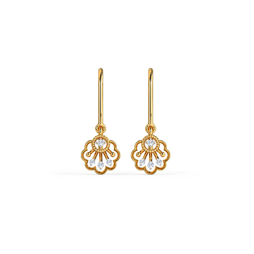 Gleaming Streak Drop Earrings