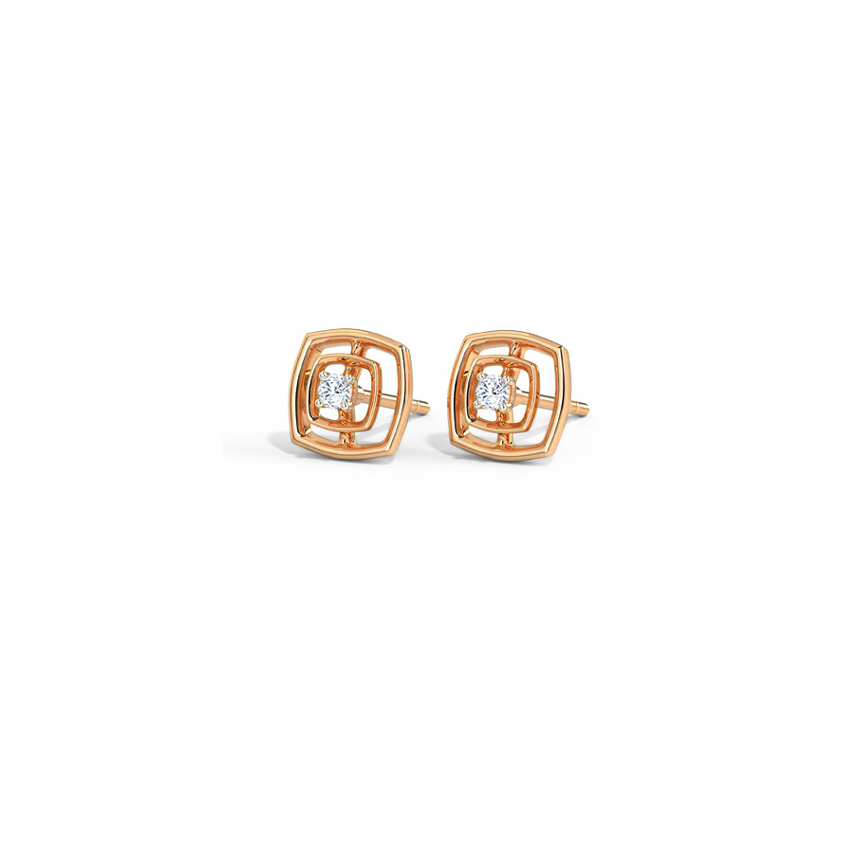 Twin Quad Stud Earrings