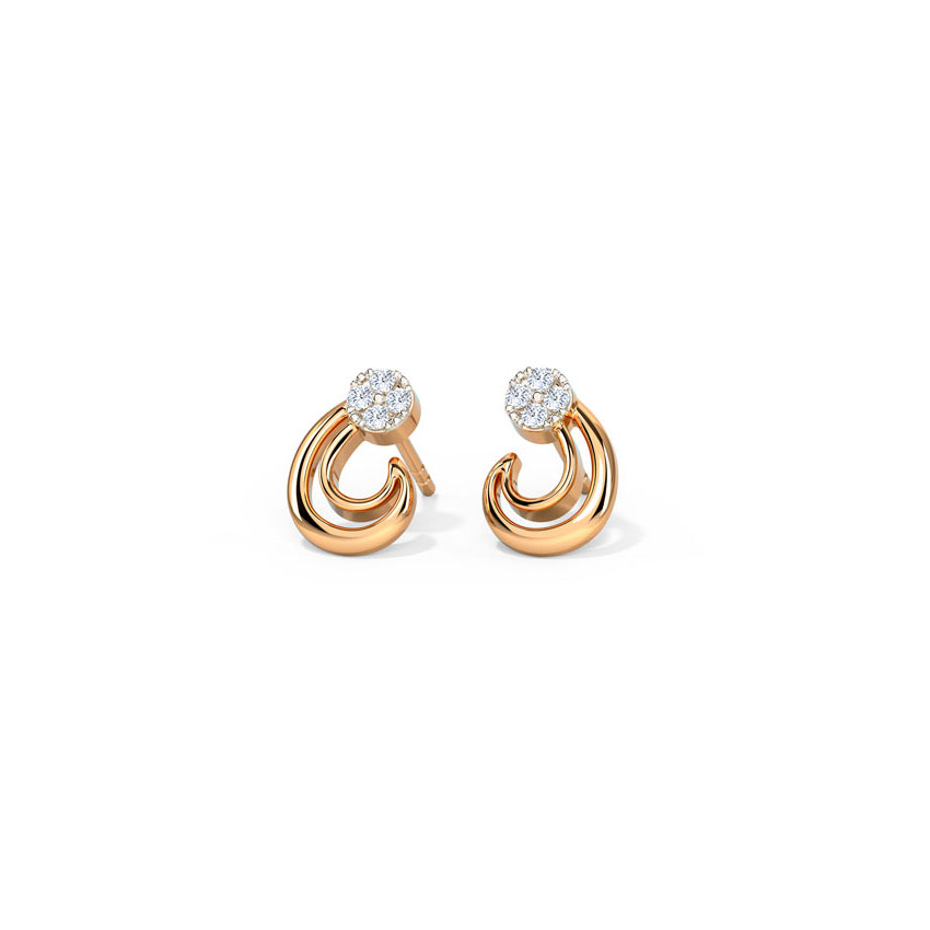 Duo Encircled Stud Earrings