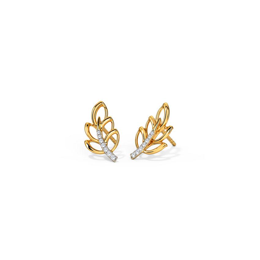 Delicate Leaflet Stud Earrings